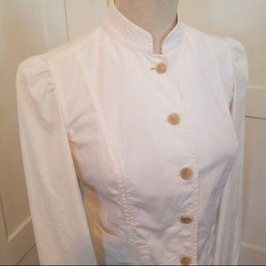 GAP white Mandarin Collar jacket (XS)
